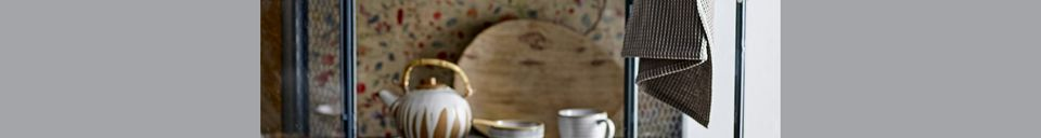 Materialbeschreibung Milchkännchen und Zuckerdose aus Porzellan Camelia