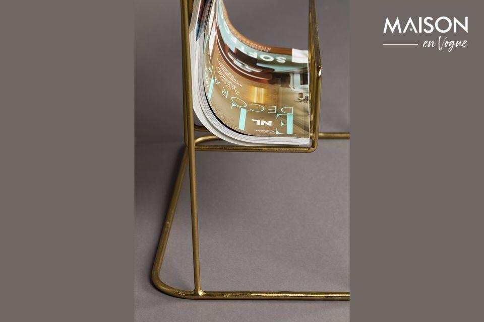 Seine sehr feine Metallstruktur bietet einen goldenen Farbton, der an die Tischplatte erinnert