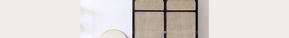 Materialbeschreibung Retro-Garderobe Larchamp in schwarzem Stoff