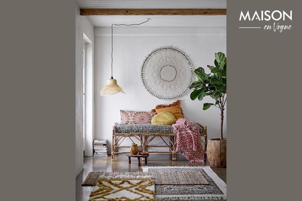 Schützen und verschönern Sie Ihr Sofa oder Bett mit diesem eleganten Noilhan-Plaid