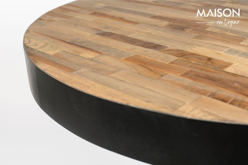 Mit diesem natürlichen runden Maze Bar-Tisch bietet White Label Living ein eigenständig