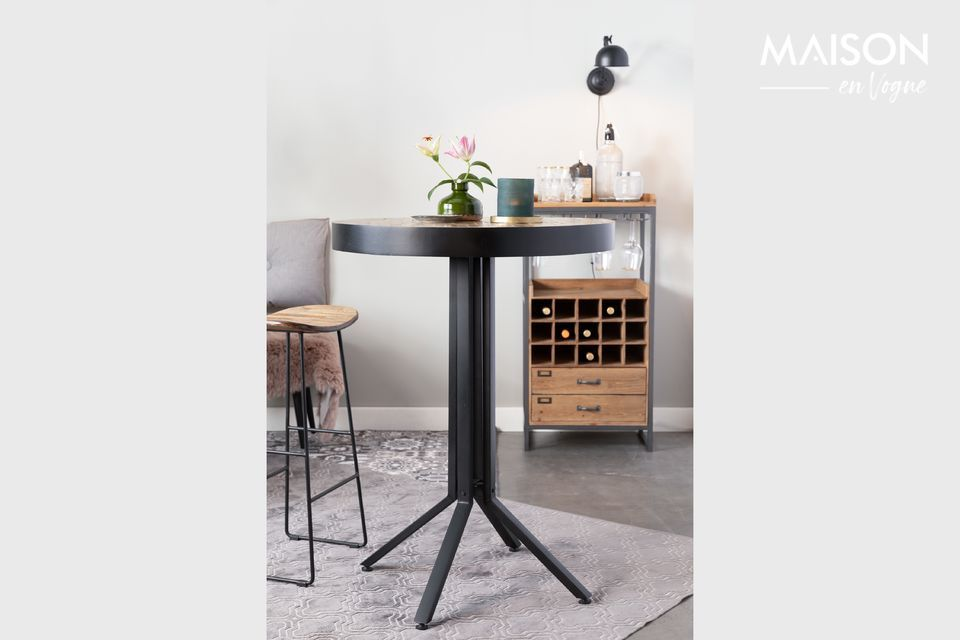 Runder Bar-Tisch Maze in Natur White Label