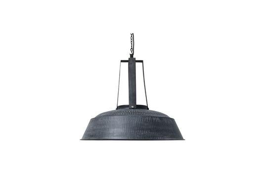 Rustikale mattschwarze Lampe Workshop XL