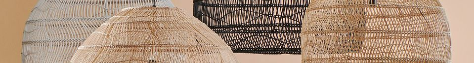 Materialbeschreibung Sancy schwarze Korb-Hängelampe Größe L
