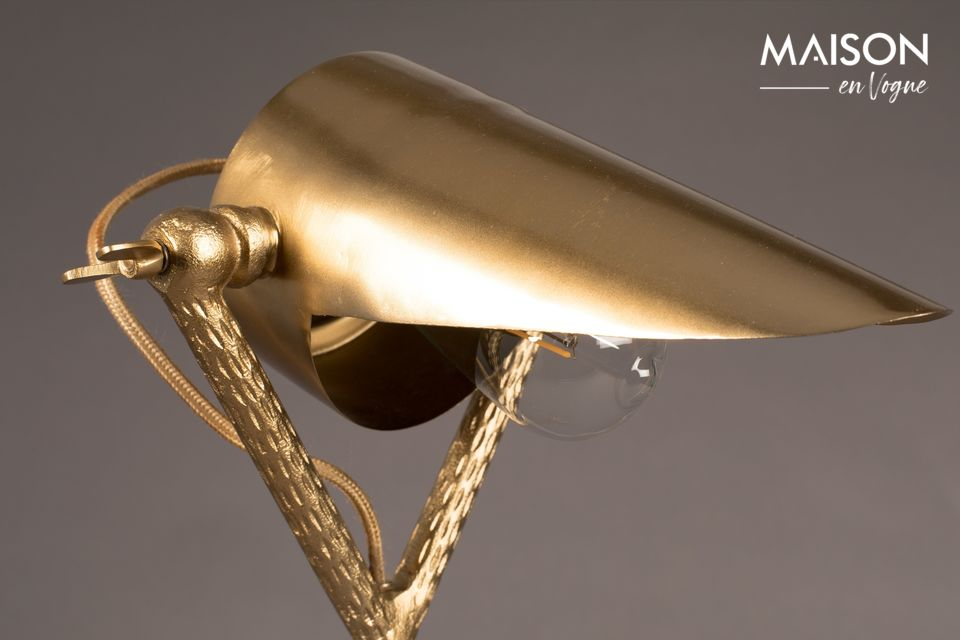 Schreibtischlampe Falcon aus Messing - 5