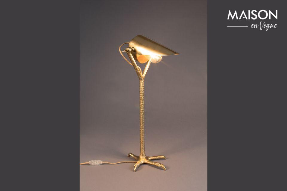 Schreibtischlampe Falcon aus Messing - 6