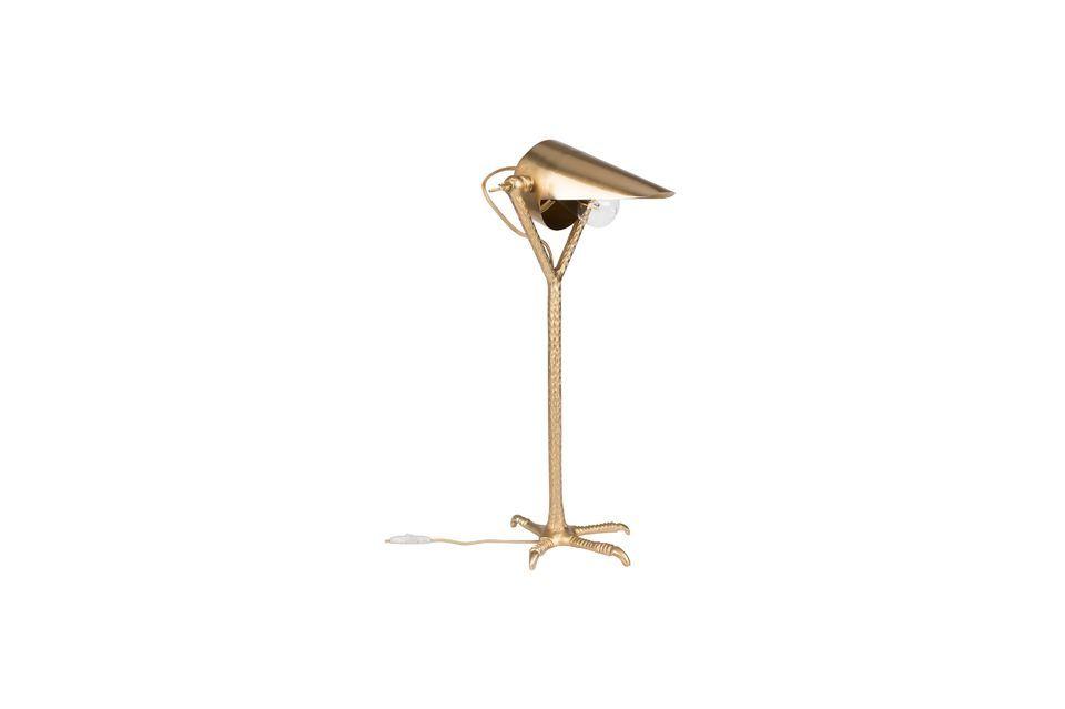 Schreibtischlampe Falcon aus Messing Dutch Bone