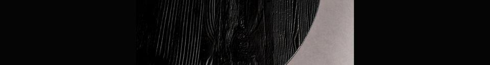 Materialbeschreibung Schwarzer Beistelltisch Pepper 45 cm