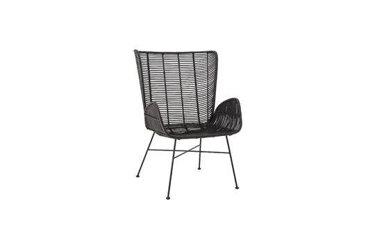 Schwarzer Lounge-Sessel Erika aus Rattan ohne jede Grenze