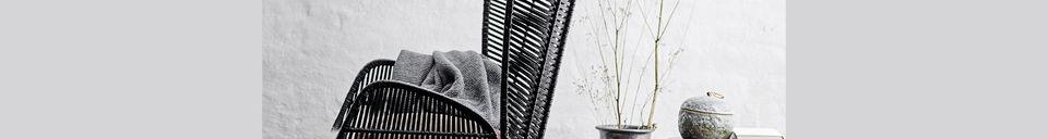 Materialbeschreibung Schwarzer Lounge-Sessel Erika aus Rattan