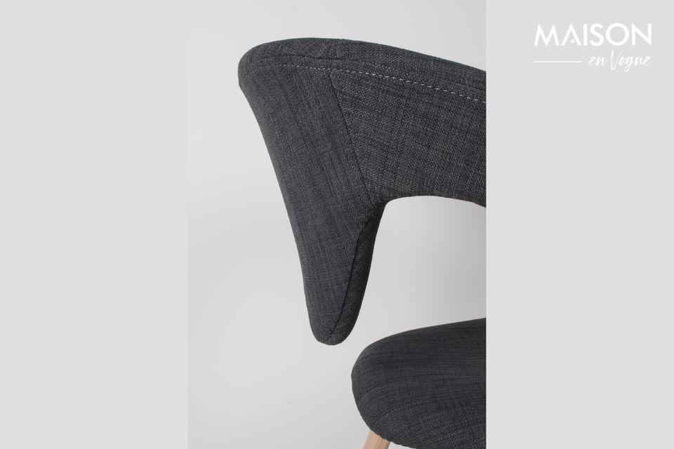 Schwarzer und dunkelgrauer Flexback-Sessel - 3