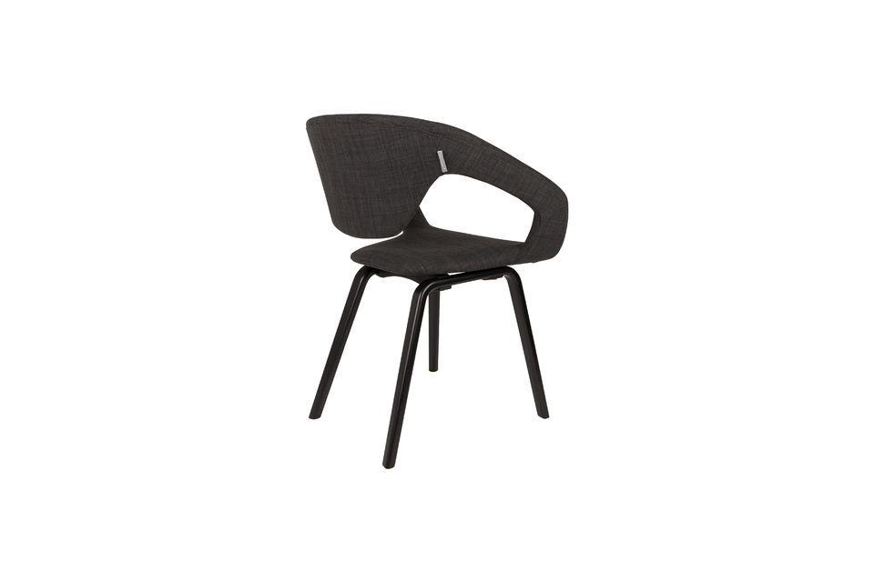 Schwarzer und dunkelgrauer Flexback-Sessel - 5