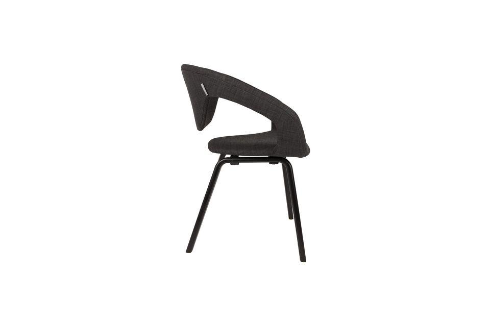 Schwarzer und dunkelgrauer Flexback-Sessel - 6