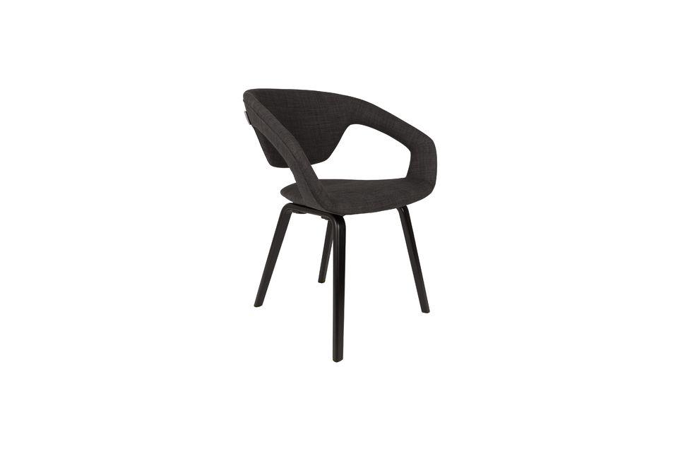 Schwarzer und dunkelgrauer Flexback-Sessel - 4