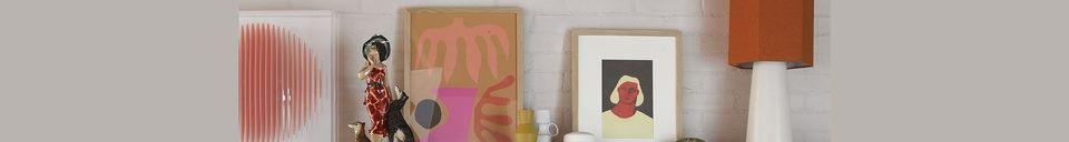 Materialbeschreibung Sechseckiger Maltat-Lampenschirm aus orangefarbener Jute Größe M