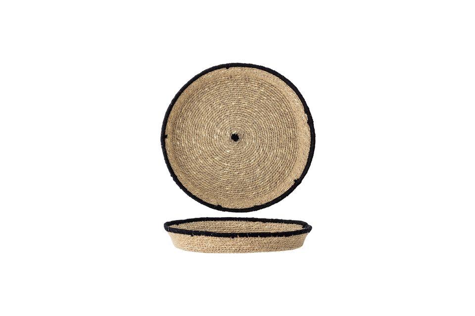 Das kreisförmige Muster wird durch einen schwarzen Rand und eine schwarze Mitte hervorgehoben