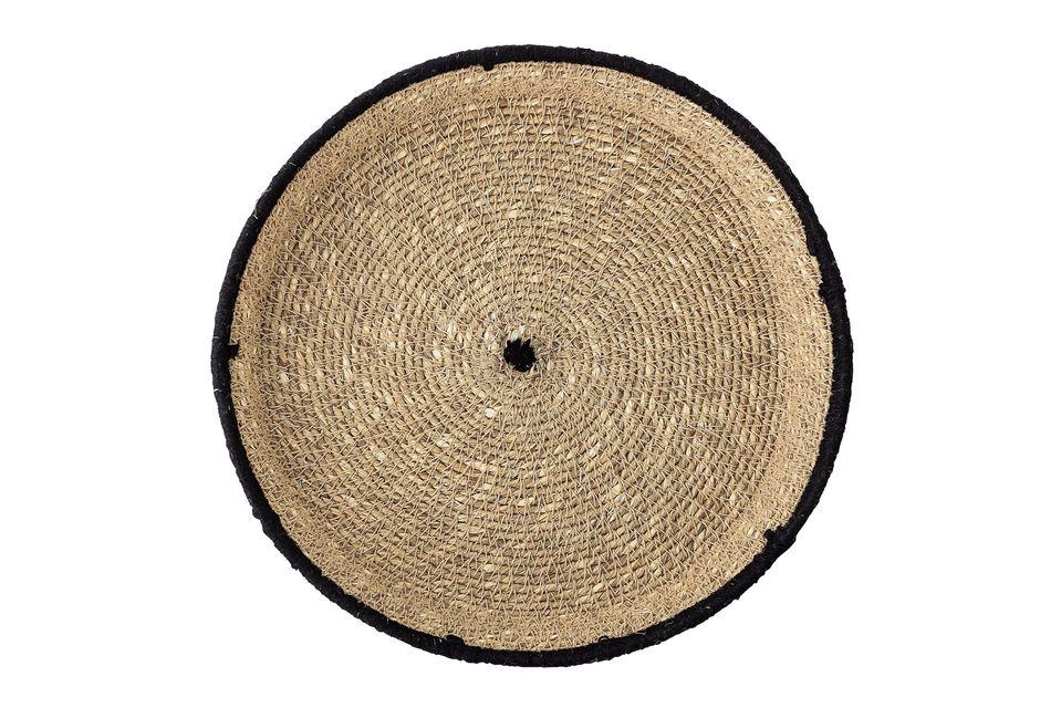 Das Serviertablett Poudenas ist eine elegante und natürliche Kreation, die geflochten wurde