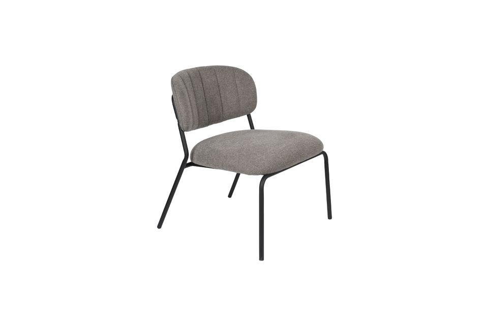 Sessel Jolien schwarz und grau - 5