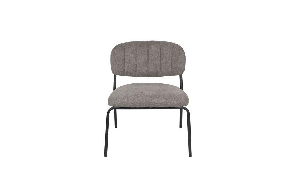 Sessel Jolien schwarz und grau - 6