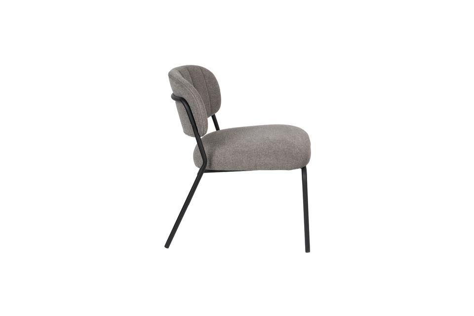 Sessel Jolien schwarz und grau - 7
