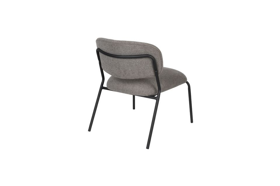 Sessel Jolien schwarz und grau - 8