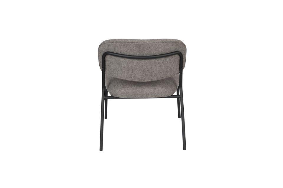 Sessel Jolien schwarz und grau - 9