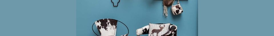 Materialbeschreibung Sessel Les Rocheuses aus Eichenholz und Kuh