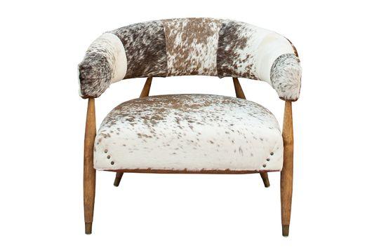 Sessel Les Rocheuses aus Eichenholz und Kuh ohne jede Grenze