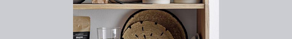 Materialbeschreibung Set mit 2 Dekorationstellern Domblans Natur