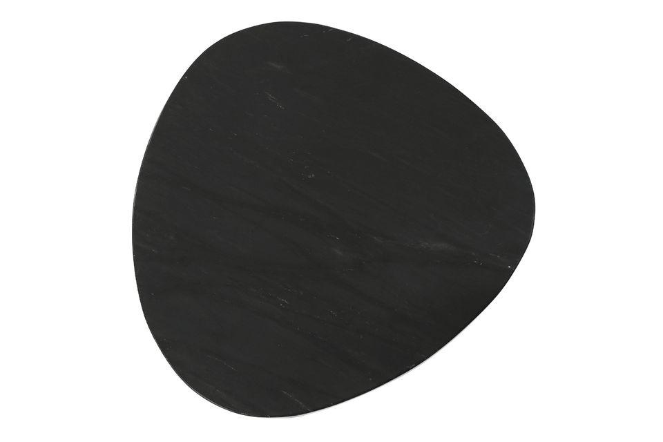Set bestehend aus 3 Beistelltischen aus schwarzem Marmor