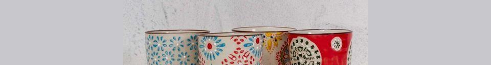 Materialbeschreibung Set mit 4 bohemian Espresso-Tassen