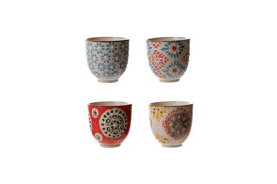 Set mit 4 bohemian Espresso-Tassen