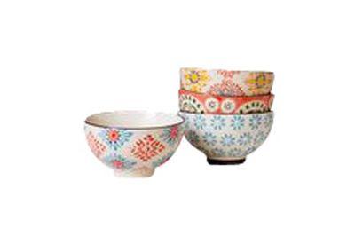 Set mit 4 kleinen bohemian Keramikschalen