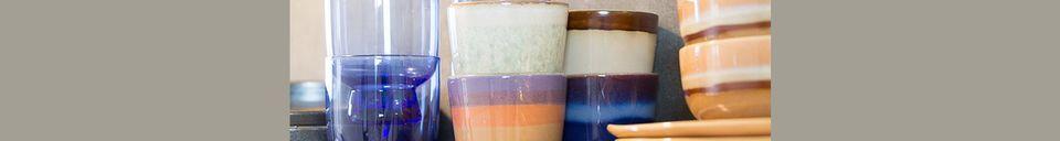 Materialbeschreibung Set mit 4 mittleren Keramikschalen aus den 70er Jahren