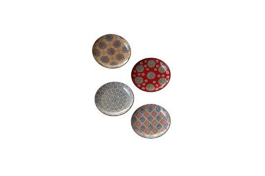 Set von 4 bohemian Keramikplatten ohne jede Grenze