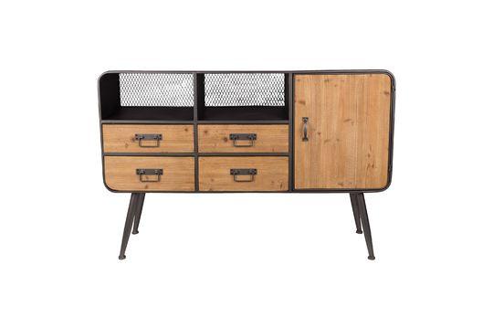 Sideboard aus Holz und Metall High Gin