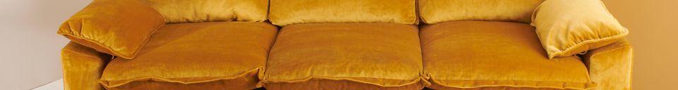 Materialbeschreibung Sofa 3-Sitzer Vez ockerfarben