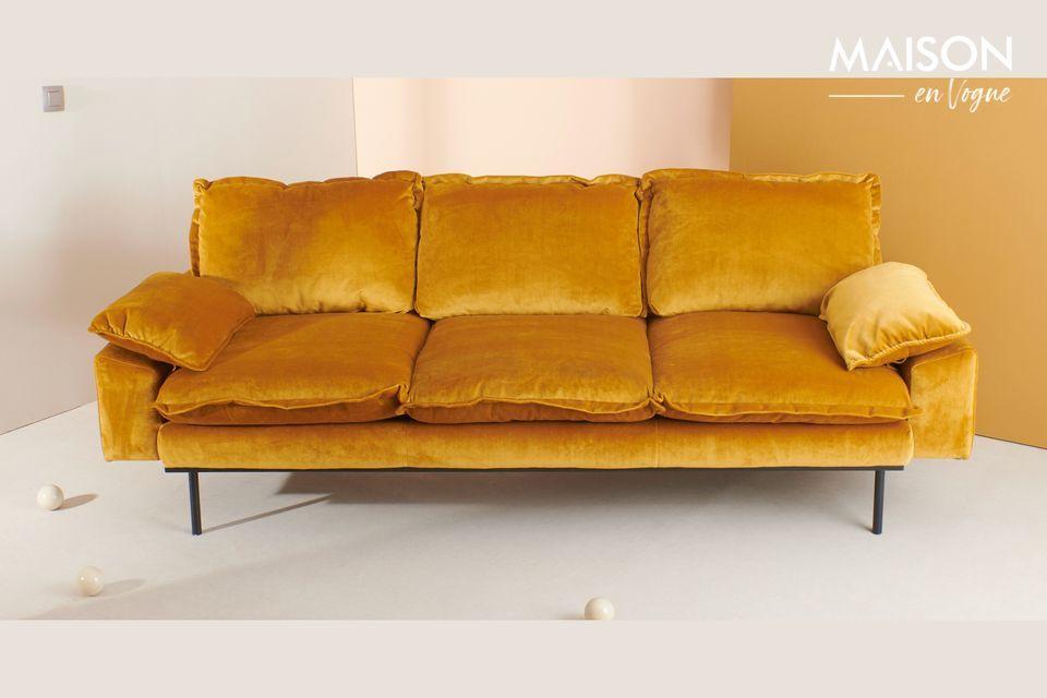 Sofa 3-Sitzer Vez ockerfarben