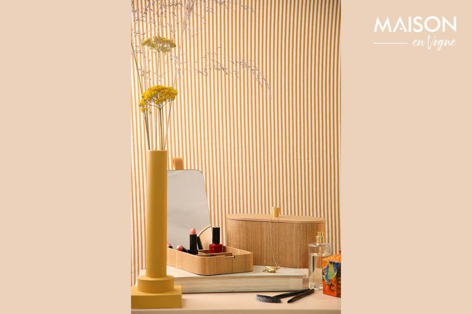 Spiegelkasten aus Weidenholz Curchy HK Living