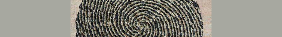 Materialbeschreibung Spiralförmige Tischunterlage Laveyron