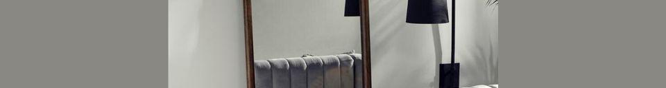 Materialbeschreibung Stehender Spiegel Wasia mit Holzrahmen