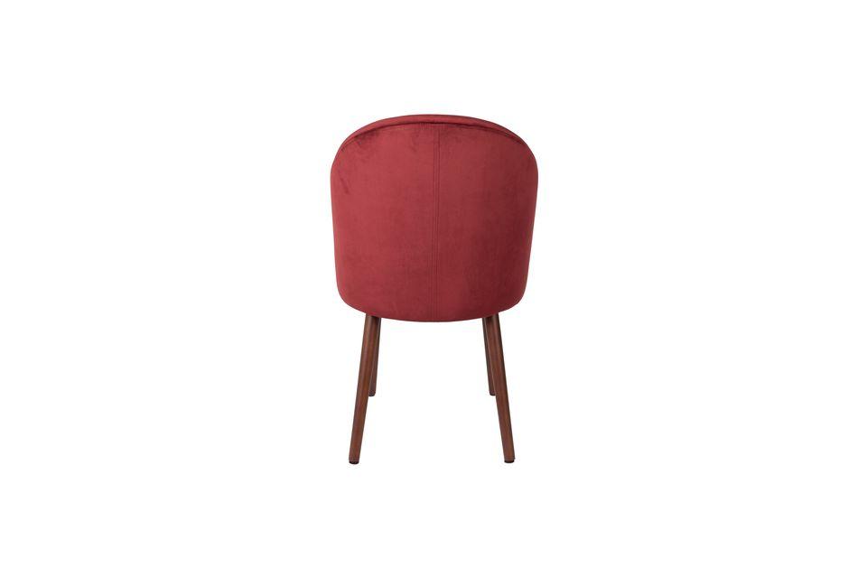 Stuhl Barbara aus rotem Samt - 7