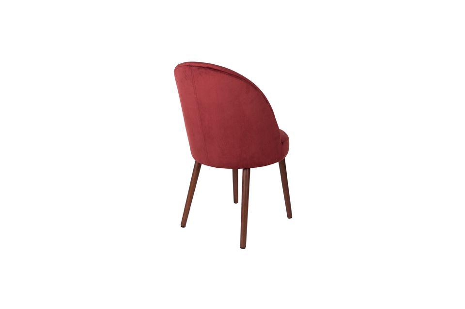 Stuhl Barbara aus rotem Samt - 8