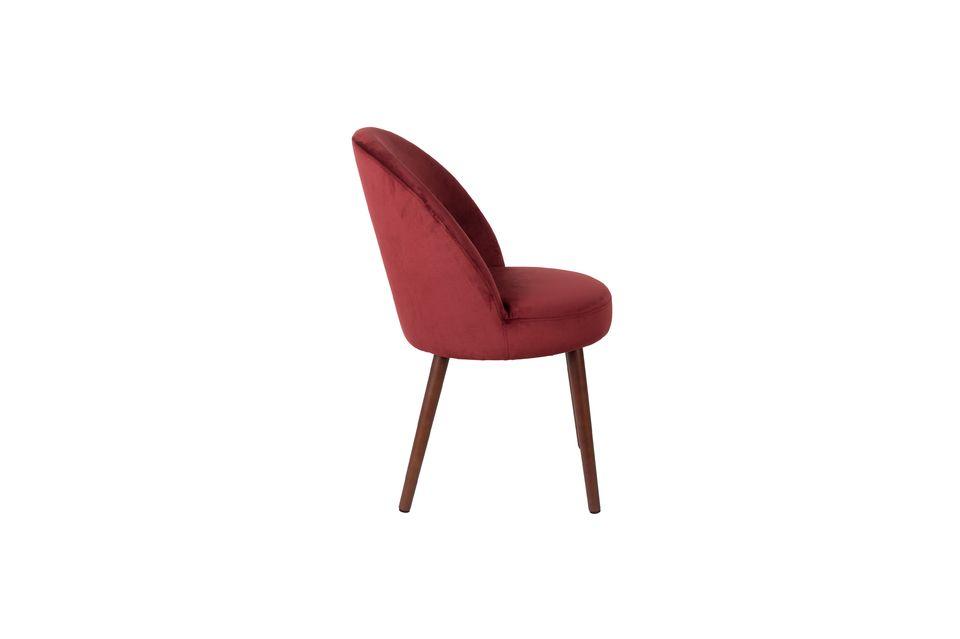 Stuhl Barbara aus rotem Samt - 9
