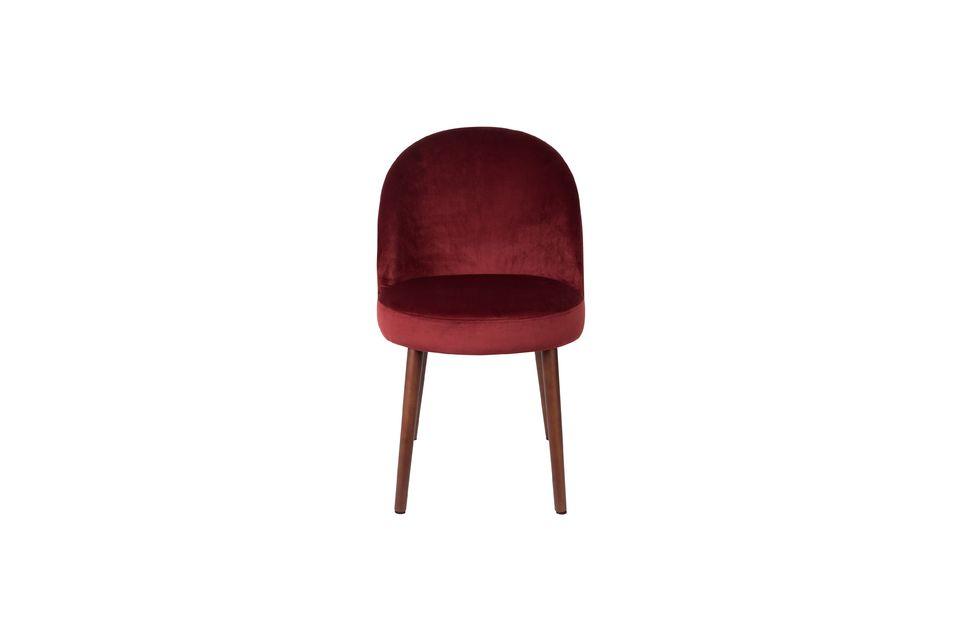 Stuhl Barbara aus rotem Samt - 10