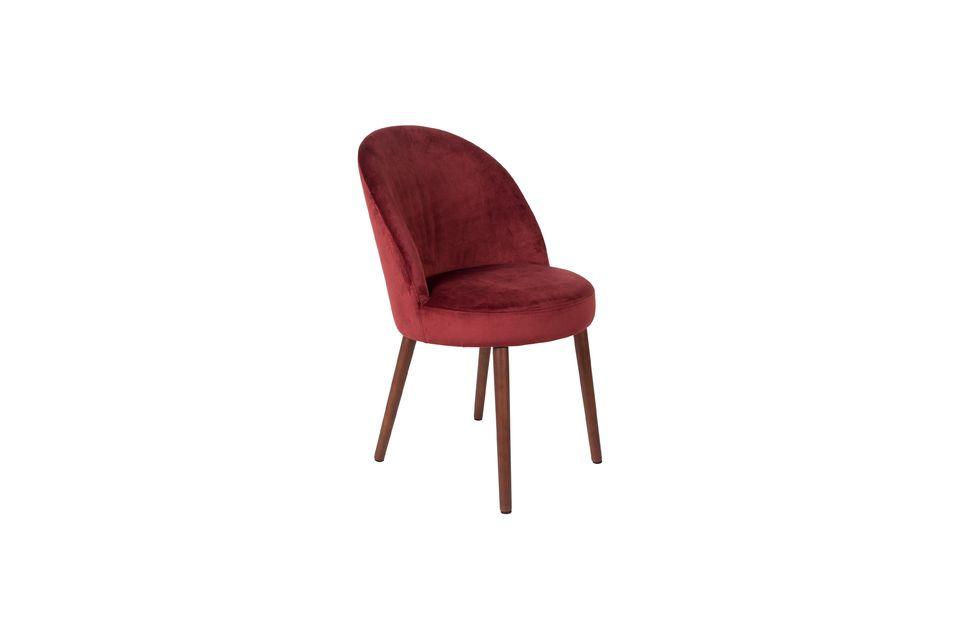 Stuhl Barbara aus rotem Samt - 6