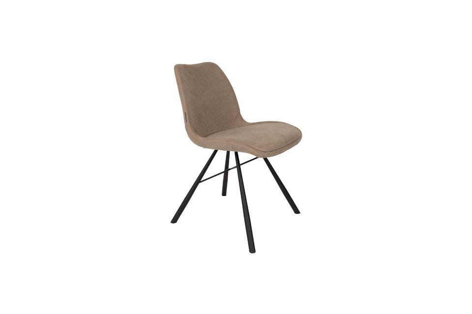 Stuhl Brent sandfarben - 5