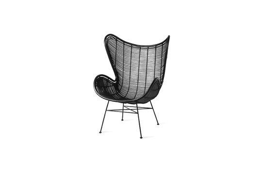 Stuhl Lizos aus schwarzem Rattan