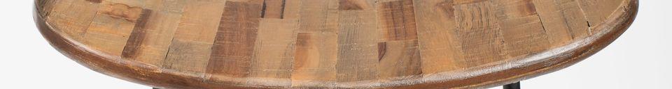 Materialbeschreibung Tangle Barhocker Natur