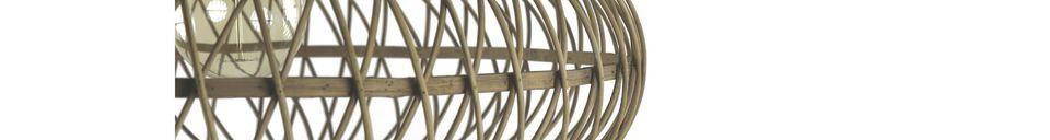 Materialbeschreibung Tao-Bambus-Hängelampe